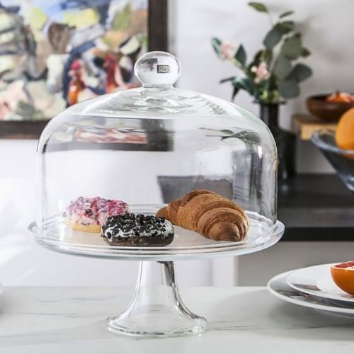 Large Cake Stand & Dome 36.5 cm Rita